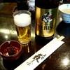 上野藪そば - ドリンク写真:エビスビールとそば味噌