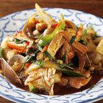 バーン・キラオ - アサリの炒め物
