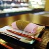 森八 - 料理写真:焼きたて桜餅!
