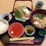 玉川 - ランチメニューの「天ぷらうどん定食」(1,180円)