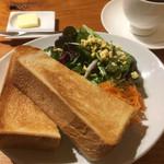 KAPPABASHI COFFEE & BAR - 本日の珈琲とペリカンのパンとサラダのモーニングセット
