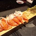 かんきち - 寿司盛り(サーモン・サバ)