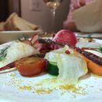 オステリア オージオ ソット - 鎌倉野菜と鮮魚のカルパッチョ1,450円