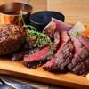 岩手県産牛と白金豚のハンバーグ 赤ワインソース×ブラックアンガス牛ハラミグリル シャリアピンソース