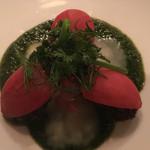 64498171 - エスカルゴのトマト添え アレッタソース