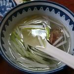萃萃 - 牛たんセット1人前(1700円) ※税抜き テールスープ