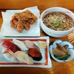 江戸前 丸福寿し - 料理写真:寿司ザンギ定食(980円)