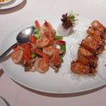 Lei Garden Restaurant - 料理写真:海老の頭の揚げたのと身を炒めたの