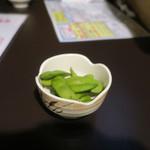 居酒屋 中西 - お通しの枝豆