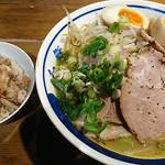 64544069 - 和鉄味噌ラーメン+ミニチャーシュー丼