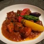 マドリード - ラム肉のシェリー風味煮込み