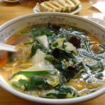 ぎょうざの満洲 - 料理写真:ニラ玉ラーメン