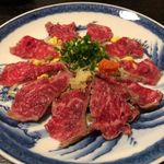 池田 銀なべ - 牛肉炙りたたき
