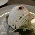 スイーツ カフェ キョウト ケイゾー - 桜10分モンブラン