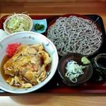 ごまそば処 雷門 - 料理写真:天津丼セット(700円)