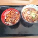 どん亭 - ミニ焼肉ライス&讃岐うどんセット