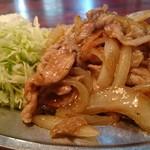 だるま屋 - 豚肉の生姜焼き