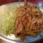 だるま屋 - 豚肉の生姜焼き 510円
