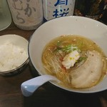 ニシキ イワモト・マツヤマ・ラーメンバー - 瀬戸内吟醸系真鯛塩soba 寿+ごはん小