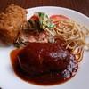 丸味亭 - 料理写真:洋風ハンバーグとカニクリームコロッケのセット