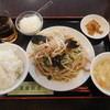 星宿飯店 - 料理写真:豚肉ともやし炒め定食¥550-