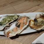 Oyster house Kai - 焼き牡蠣3種