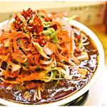 あかずきん - 超激辛 辛っとろ麻婆麺~あかずきん~ 1000円 確かに辛い!確かにシビレル!しかし…美味い♪