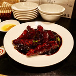 善道 - 黒酢酢豚 4切 900円