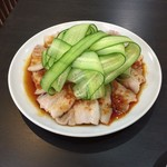 中華料理紅蘭 - 薄切り豚肉ニンニクソース