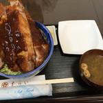 むらい - ロースカツ丼 ソース