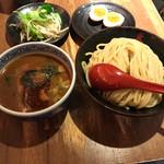 三田製麺所 - 山椒つけ麺 中+半熟玉子+ちょこっと野菜