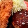 レストランヒラノ - 料理写真:ハンバーグと白身魚フライ盛り合わせ