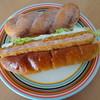 フィセルベーカリー - 料理写真:エビカツサンドとツイストドーナッツ