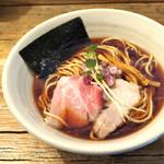 Homemade Ramen 麦苗 - '17.04にぼらあ(濃口太麺ver.)