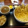 蔵十 - 料理写真:釜玉 ゲソ天付き定食+チョイカレー