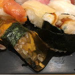 雛鮨 - ふぐ皮の煮こごりとはまぐり