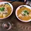 中華そば 遊山 - 料理写真:大きさの違いわかりますか?大盛りと普通サイズです