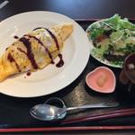 大榎庵 - オムライスもちょっと変わった味付けですが美味しかったです