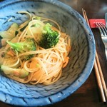 レストラン AKIOKA  - パスタランチ(からすみとブロッコリーのペペpロンチーノ スパゲティーニ)1,450円 2017/04
