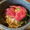 上杉 - 料理写真:石焼ステーキビビンバセット(1000円) 石焼ビビンバ