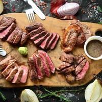 熟成牛ステーキの盛り合わせ 名物ウッシーナ盛り