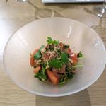 モード カフェ ギャマン - ズワイガニとトマトのサラダ
