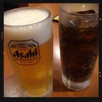 四川麻辣火鍋 天府 - 生ビール&コーラ