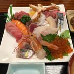 さいとう - 海鮮丼(別皿で具の大盛り)