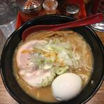 麺処 花田 - 味噌 味玉トッピング