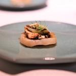 中国料理 東弦京 - 帆立、あん肝、蓮