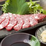 鉄なべ - 熊本の契約業者から毎日入荷するため、新鮮な『霜降り馬刺し』