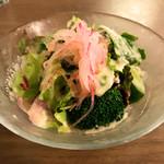 洋食・ワイン フリッツ - セットのサラダ