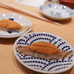 鮨 尚充 - 白魚に東沢のうに