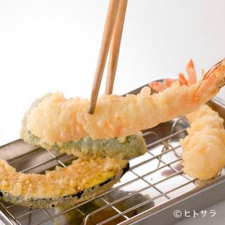 アツアツでサクサクの天ぷらに大満足!!